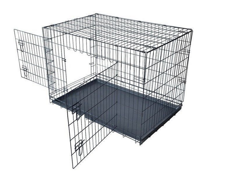 dog cage two doors cheap price
