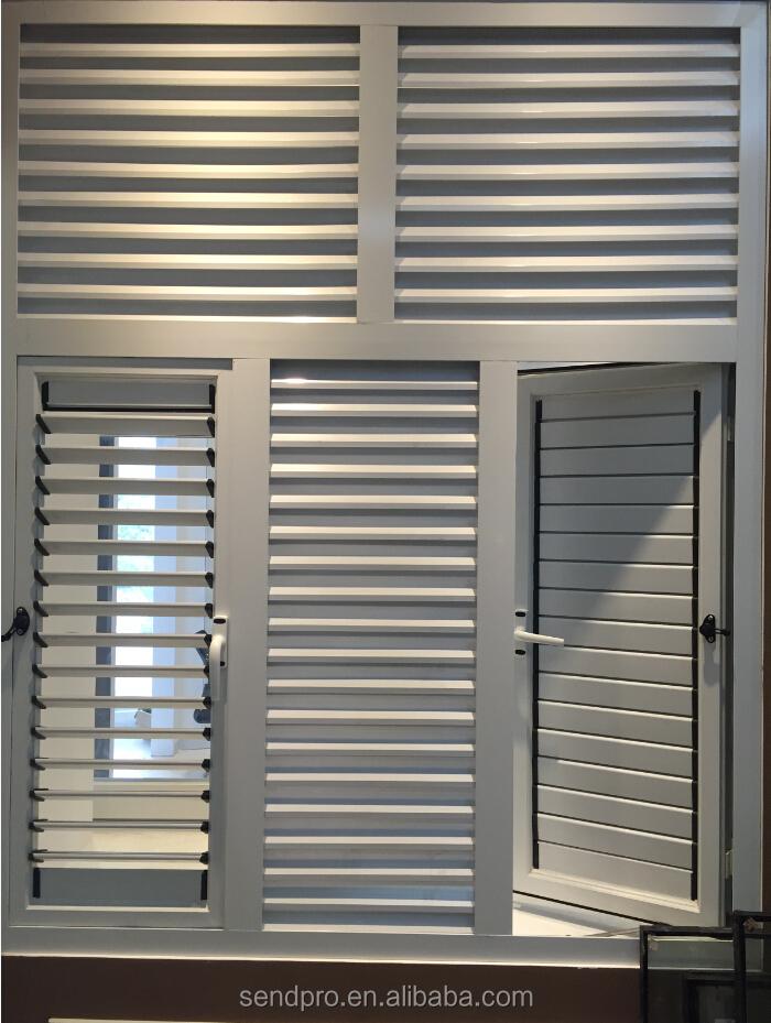 Aluminium fen tre aveugles et jalousie windows pour for Une jalousie fenetre