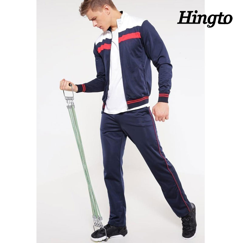 China manufacturer wholesale professional 100% polyester zip up sports training tracksuit for men sportswear