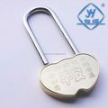 High quality double heart love padlock