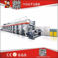 HERO BRAND 100-400M/mins BOPP PVC High Speed New/Used RotoGravure Printing Machine price