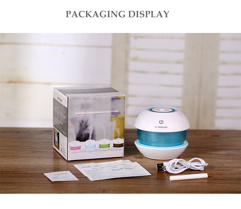 Mini Cool Mist Humidifier Essential for Office Home Car Study Spray Mist Humidifier LED Magic Humidifier