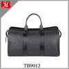Men Big Capacity Waterproof Black Full Grain Genuine Leather Travel Bag