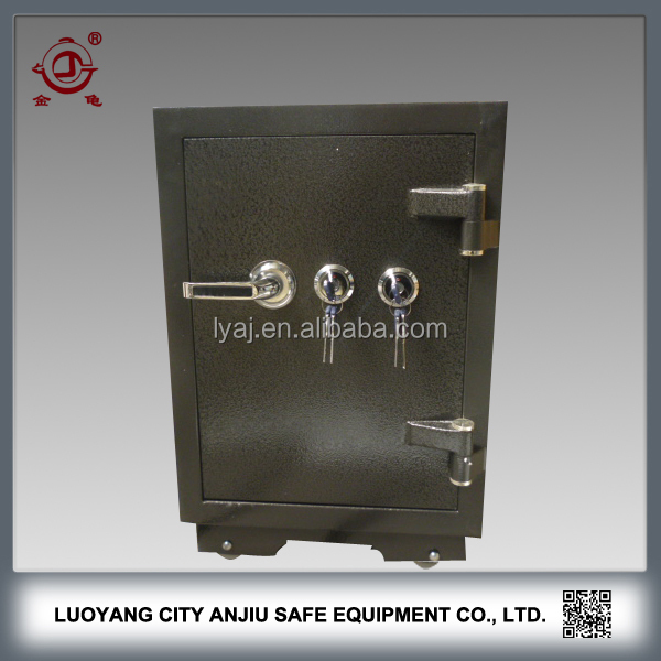 Hot-selling hotel safe metal storage two lock key safe box
