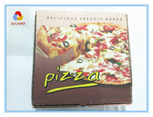 Printed White corrugated paper boxes for pizza packaging box