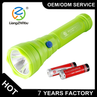 custom black ABS powerful led torch 3W rechargeable led flashlight torch