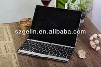 2013 Aluminum alloy case with bluetooth keyboard for ipad