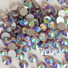 Oleeya factory top quality SS20 lt.amethyst AB non hotfix nail art rhinestones for nail design