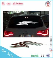 customized el car sticker to show your characteristics