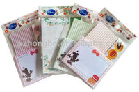 high quality colorful printing envelope set with letter paper