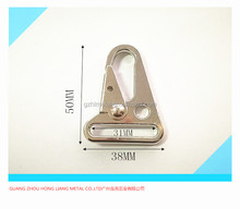 1.2 inch multifunctional Triangle spring metal key chain / Zinc Alloy Chick Tactical Belt Buckle Snap Hook For Ribbon