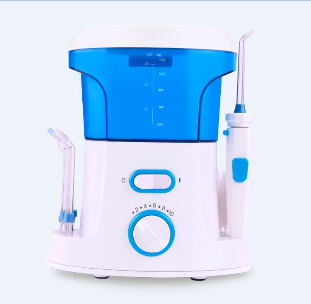 2017 New style water dental flosser 1000ml water tank Five unique tips Ten setting pressure