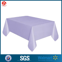 Plastic purple PEVA square printed independent tablecloth