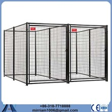 Hot sale cheap Metal or galvanized comfortable dog cage in black with plastic trays.