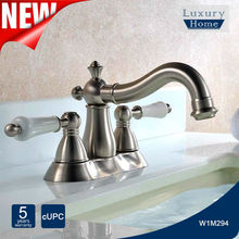 "High End 4"" widespread cupc artistic brass bathroom faucet"