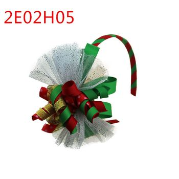 Hot selling christmas ribbon hair band for children girls hair accessories