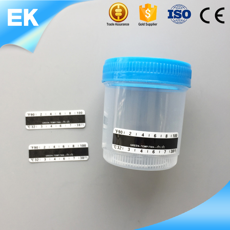 For Sale in china Thermometer strip PET+liquid crystal transparent test urine container