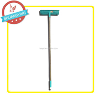 Hard house floor brush with long broom handle and high quality PET hair SY3911