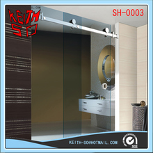 Shower room frameless glass sliding door