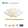 Disposable sushi sticks engraved bamboo wooden chopstick with sleeve