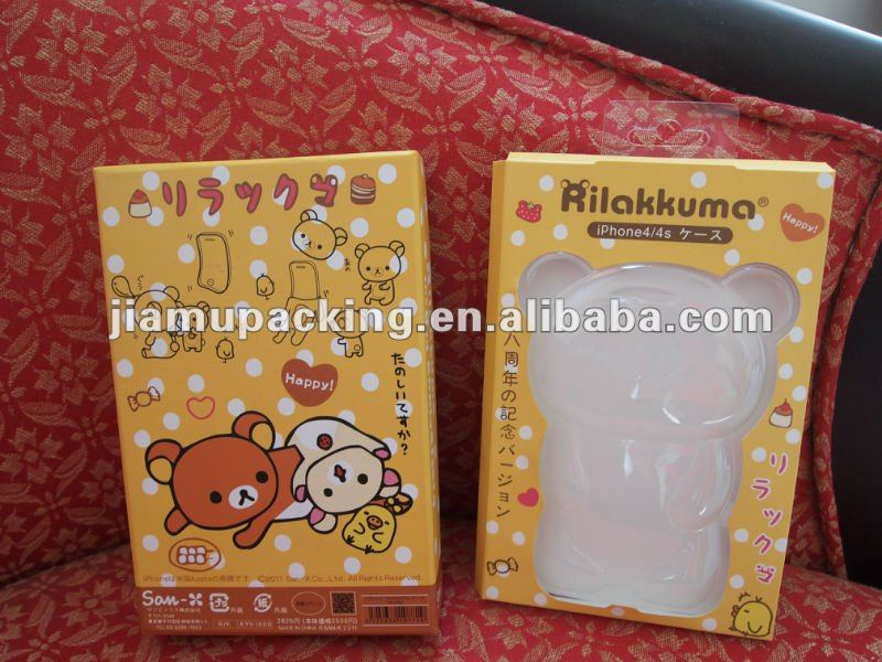 Lovely Japanese packaging box for Iphone 4S case