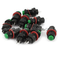 DS-213 2Pin Momentary SPST Push Button Switch Green AC 125V 2A