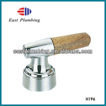 H196 Brand New Eastplumbing Polished Brass / Wooden Lever Handle for Tub / Shower