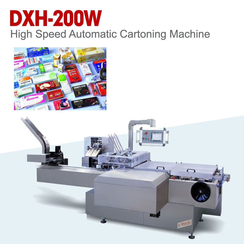 LEAFLET INSERTING CARTON PACKAGING MACHINERY