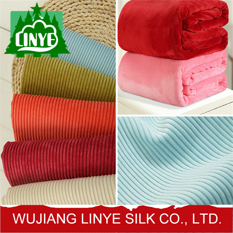 newest design home textile fabric polyester 7 wale corduroy