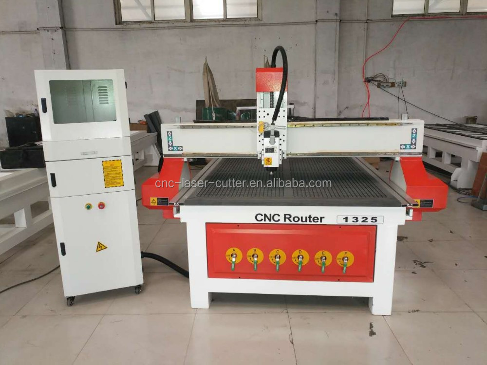 Vacuum table for wood cutting engraving JCUT-1325B cnc router with 3kw air cooling spindle motor