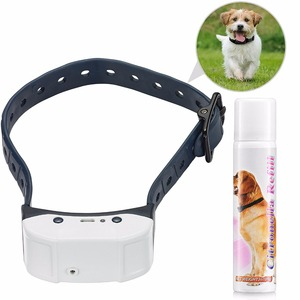 Rechargeable Spray Dog Training Collar Pet Citronella Bark Control No Barking Collar green and white optional