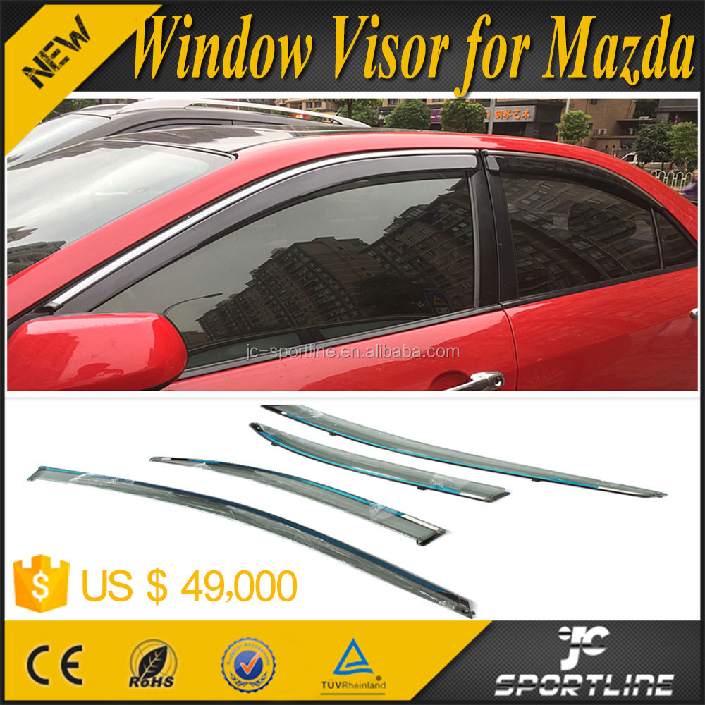 PC Injection Rain Guards Window Trim Window Visor for Mazda 6 M6 06-14 4pcs/set