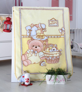 Hot sales soft comfortable fleece minky knitted baby blanket