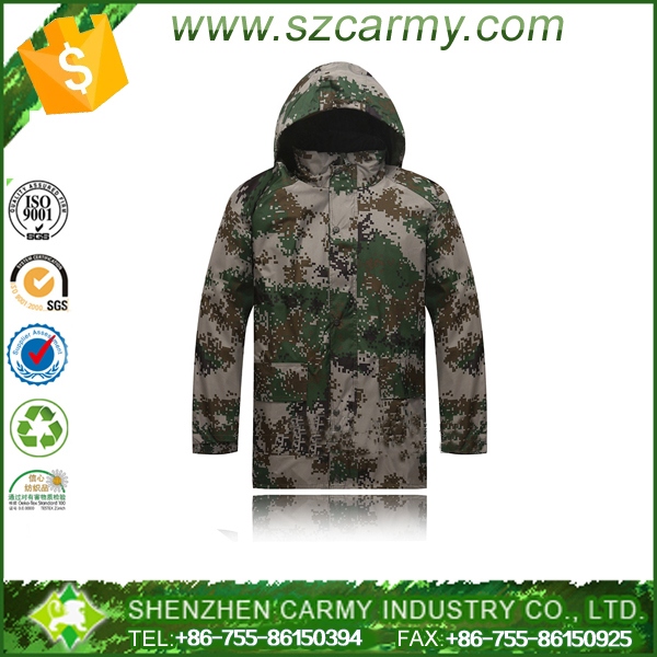 Durable hi-vis reflective tape printed logo PVC coated hooded all-weather motorcycle fishing camo military rain wear suits