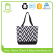 Personalized Chevron style polyester tote bag Printed beach gym bag