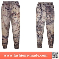 Woman Vintage Map Printed Sweatpant