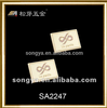 Song A metal brand logo label/ zinc alloy Top class logo plate with diamond/jeans leather -label-SA3477