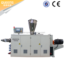 QUEENS plastic water PVC pipe extrusion machine PVC line pipe groove extrusion machine