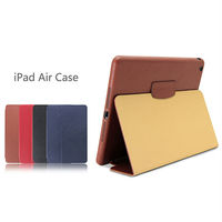 Wholesale High quality 100% genuine leather case cover for ipad air