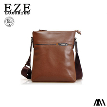 China factory cheap men leather messenger bag