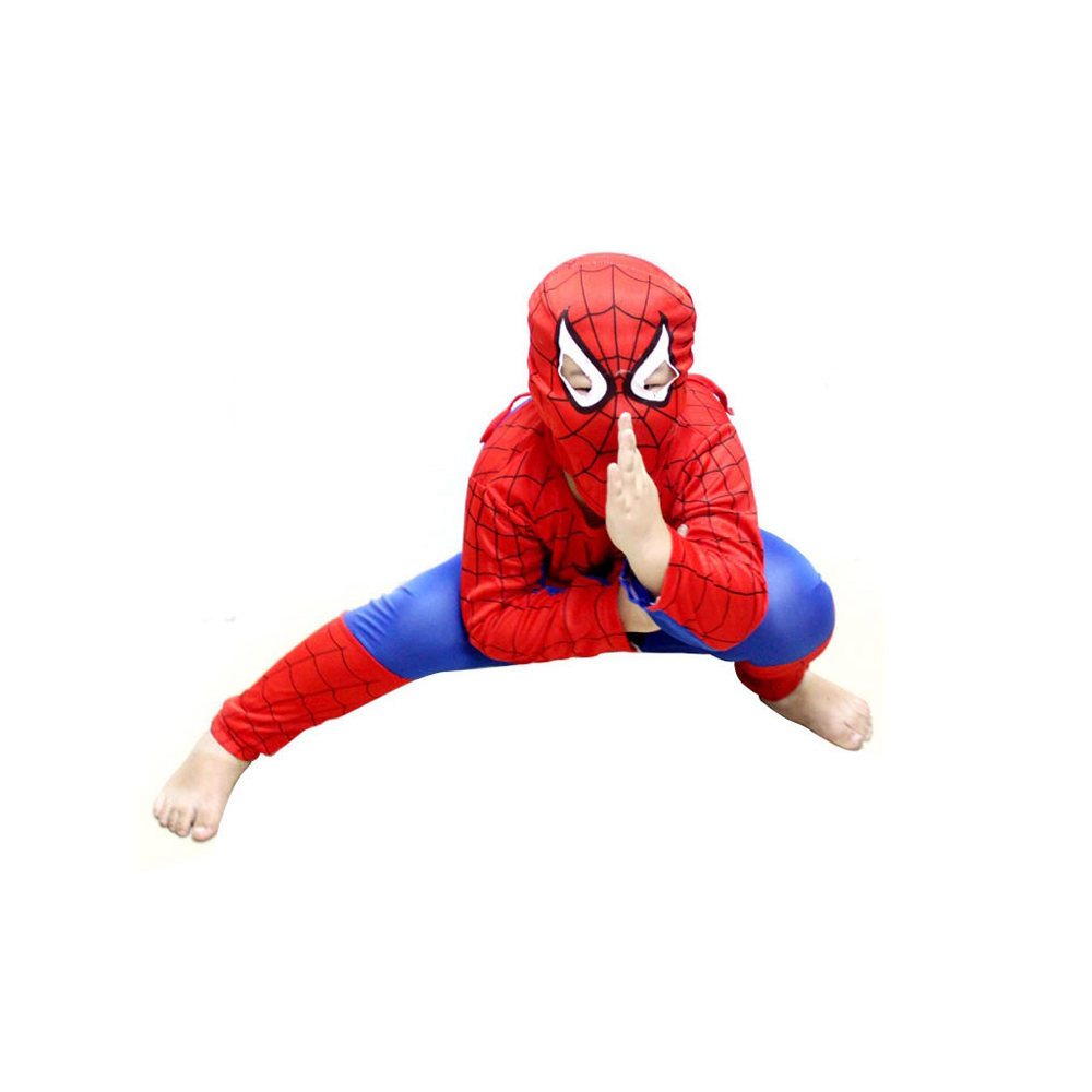 1 Set Polyester Halloween Party Cosplay Clothes Spider Man Suit Children Halloween Costumes