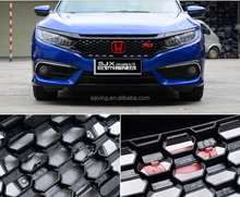 Body parts car grills for Hon-da civic 2016 honeycomb car front Grille spoiler for civic 2016