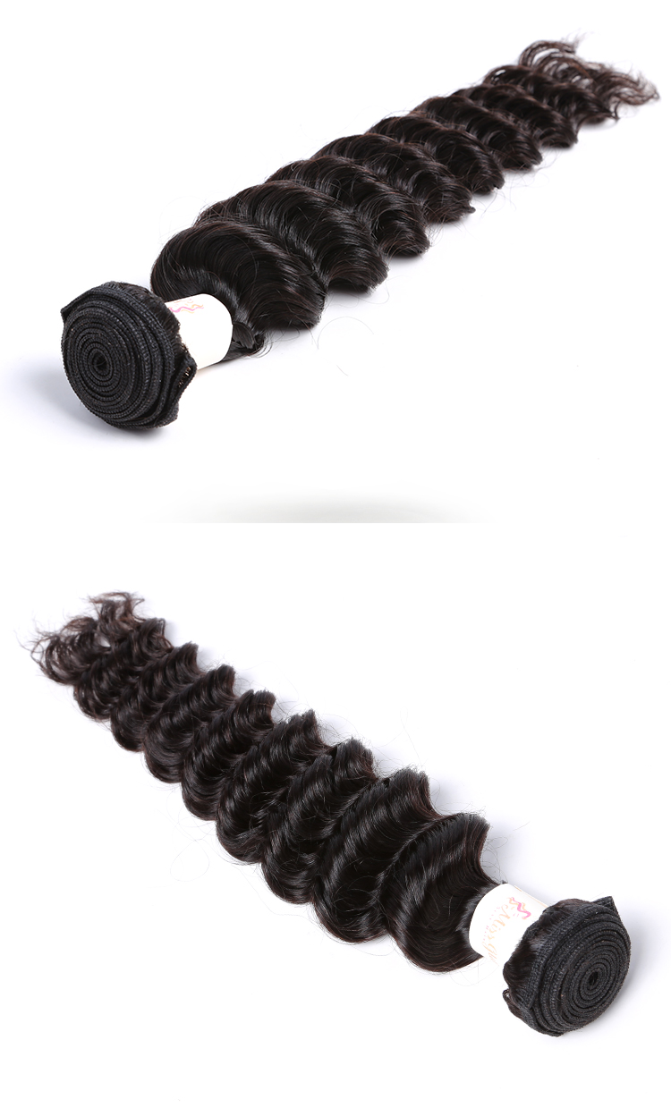 100% natural indian human hair ,10-30 inch human hair weave extension deep wave  hair weave