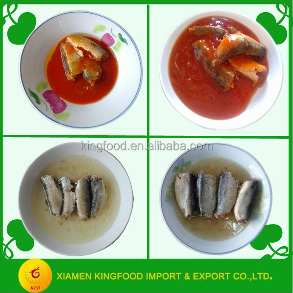 Export canned sardine mackerel fish export types of canned fish