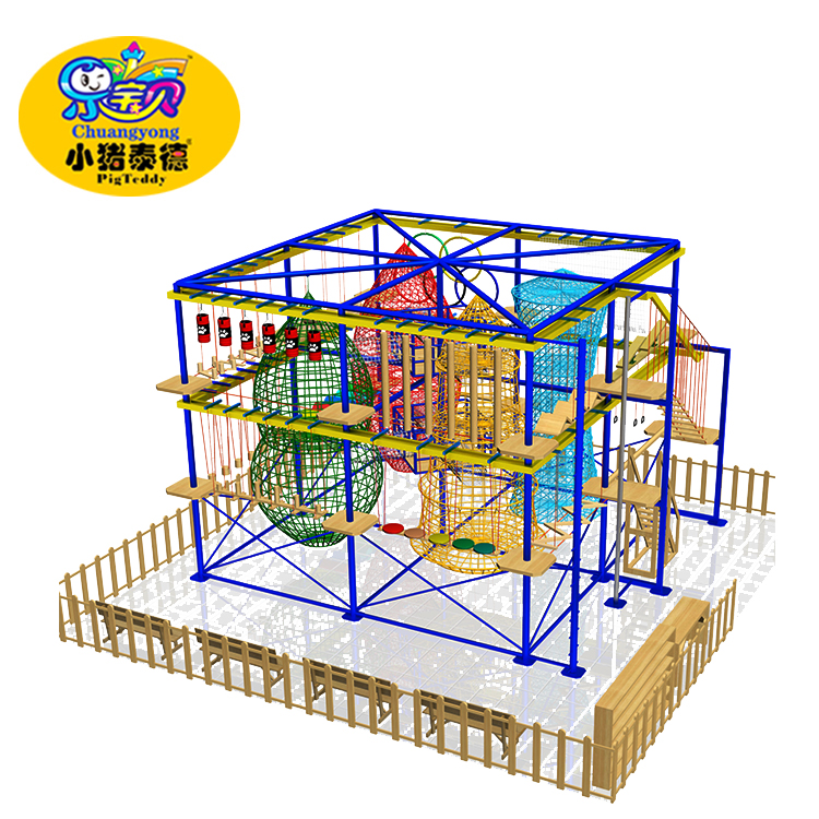 kids indoor outward bound training playground adventure park
