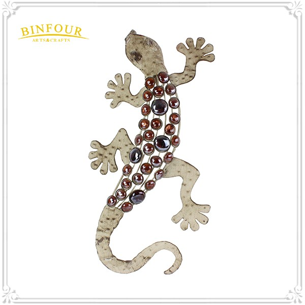 New design 3D lizard metal wall hanging decoration