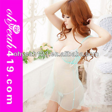 Hot sexy transparent nude babydoll cheap wholesale