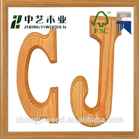 FSC CHINA Supplier Bar Decorative Carving Wooden Word Letters solid pine personalized blank Wooden Word Letters