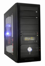 thickness SECC 0.6mm LCD temperature display middle tower ATX computer case with chassis L450*W190*H430mm