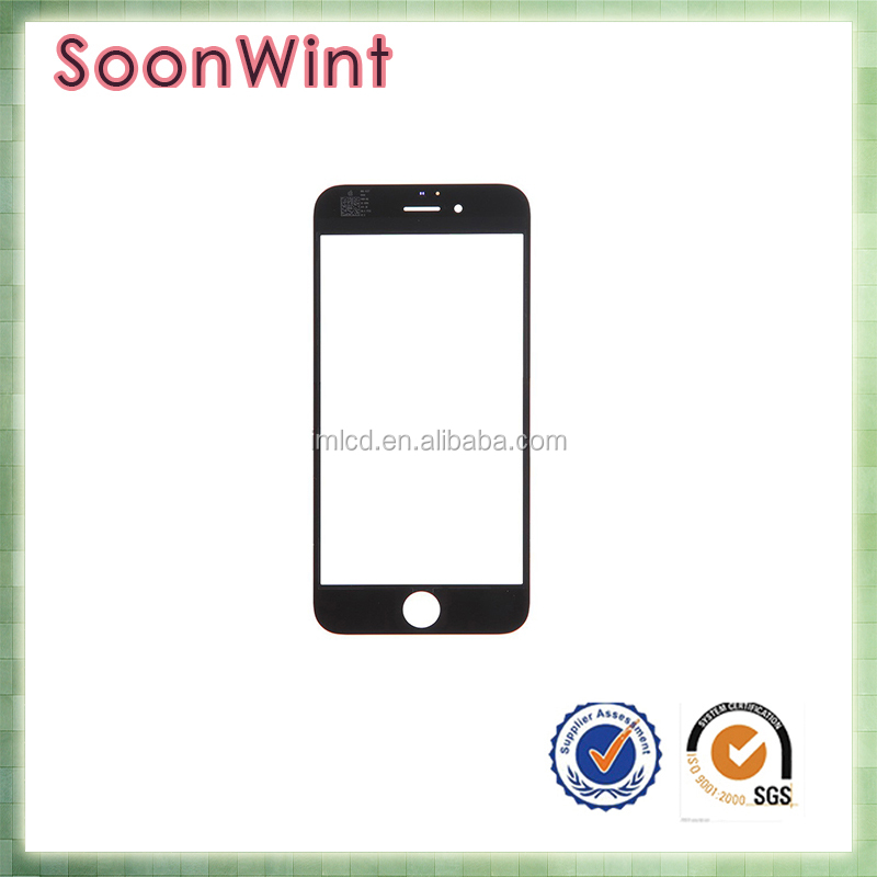 wholesale factory price! for iphone 6 front glass faceplate lens part panel with oca glue